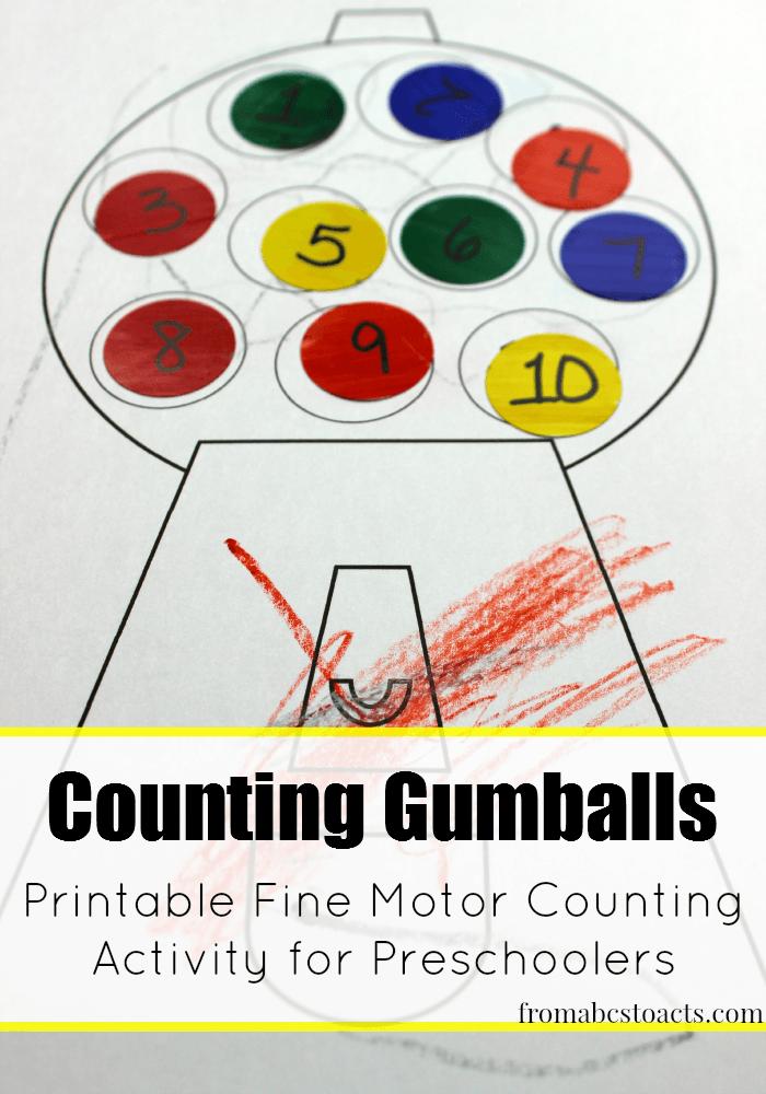 Counting Activity for Preschoolers | Counting activities, Activities ...