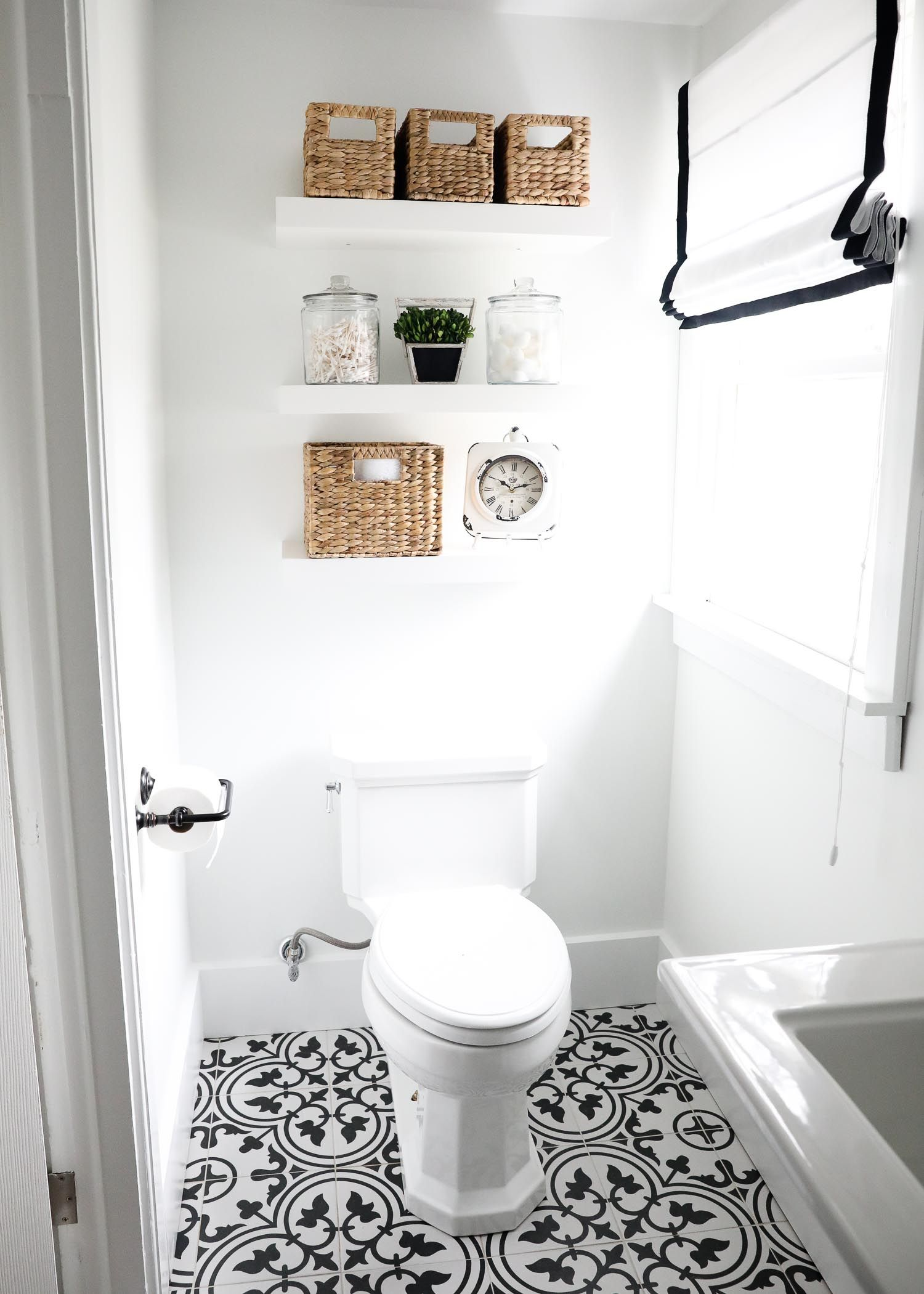 Black And White Bathroom White Bathroom Tiles Fixer Upper