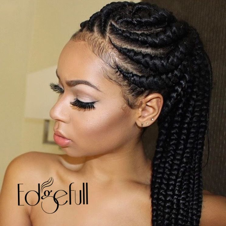 Naturally Cover Your Thinning Hairline Or Any Other Balding Areas With Edgefull Hair Styles African Braids Hairstyles Cornrow Hairstyles
