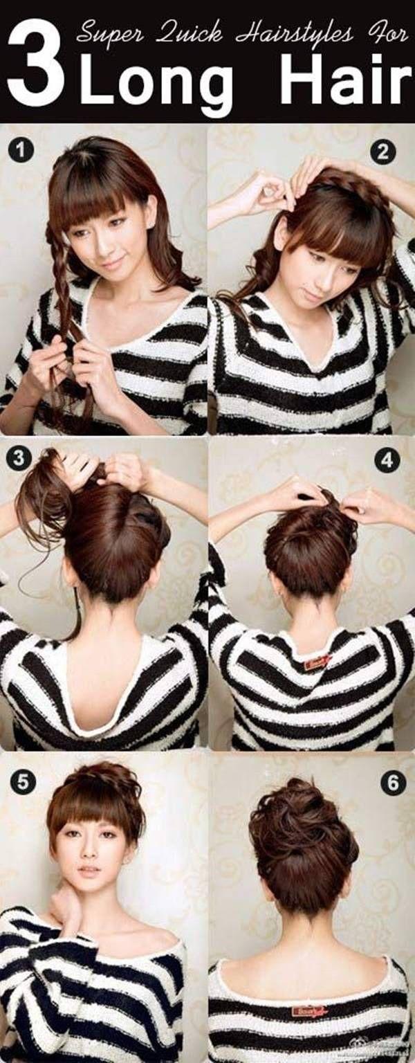 fryzury na co dzień włosy długie