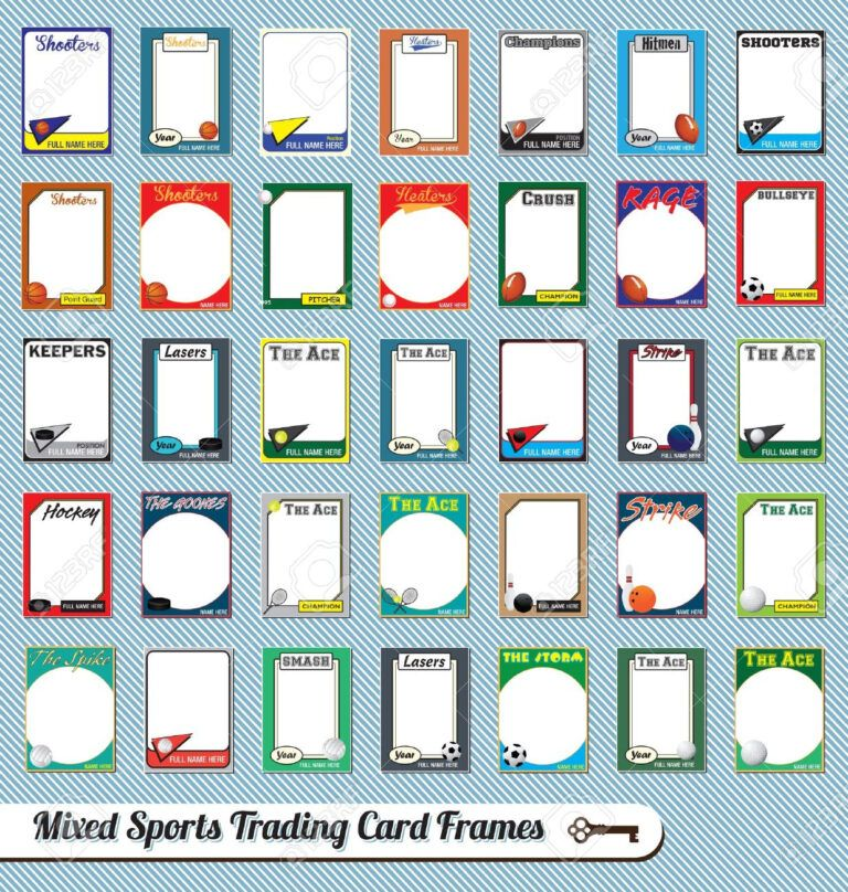 Trading Cards Clipart Pertaining To Free Sports Card Template In 2020 Trading Card Template Trading Card Frame Free Business Card Templates