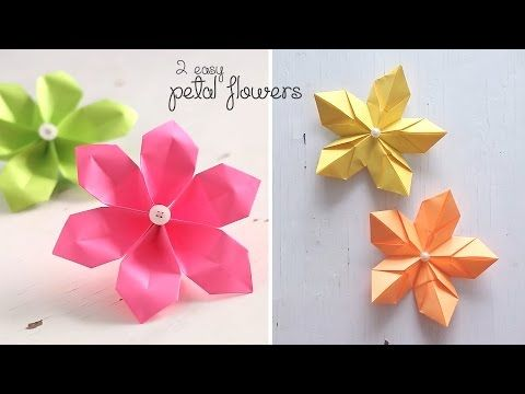 2 easy petal flowers youtube paper papel pinterest easy 2 easy petal flowers youtube paper papel pinterest easy origami and flower mightylinksfo