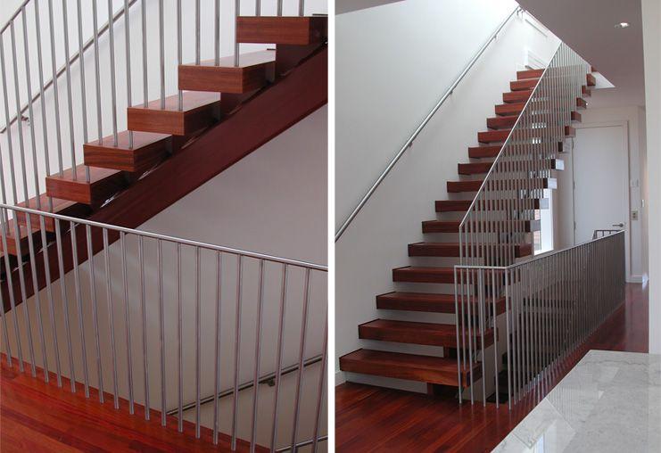Gorgeous hardwood open tread stairs JENSEN ARCHITECTS