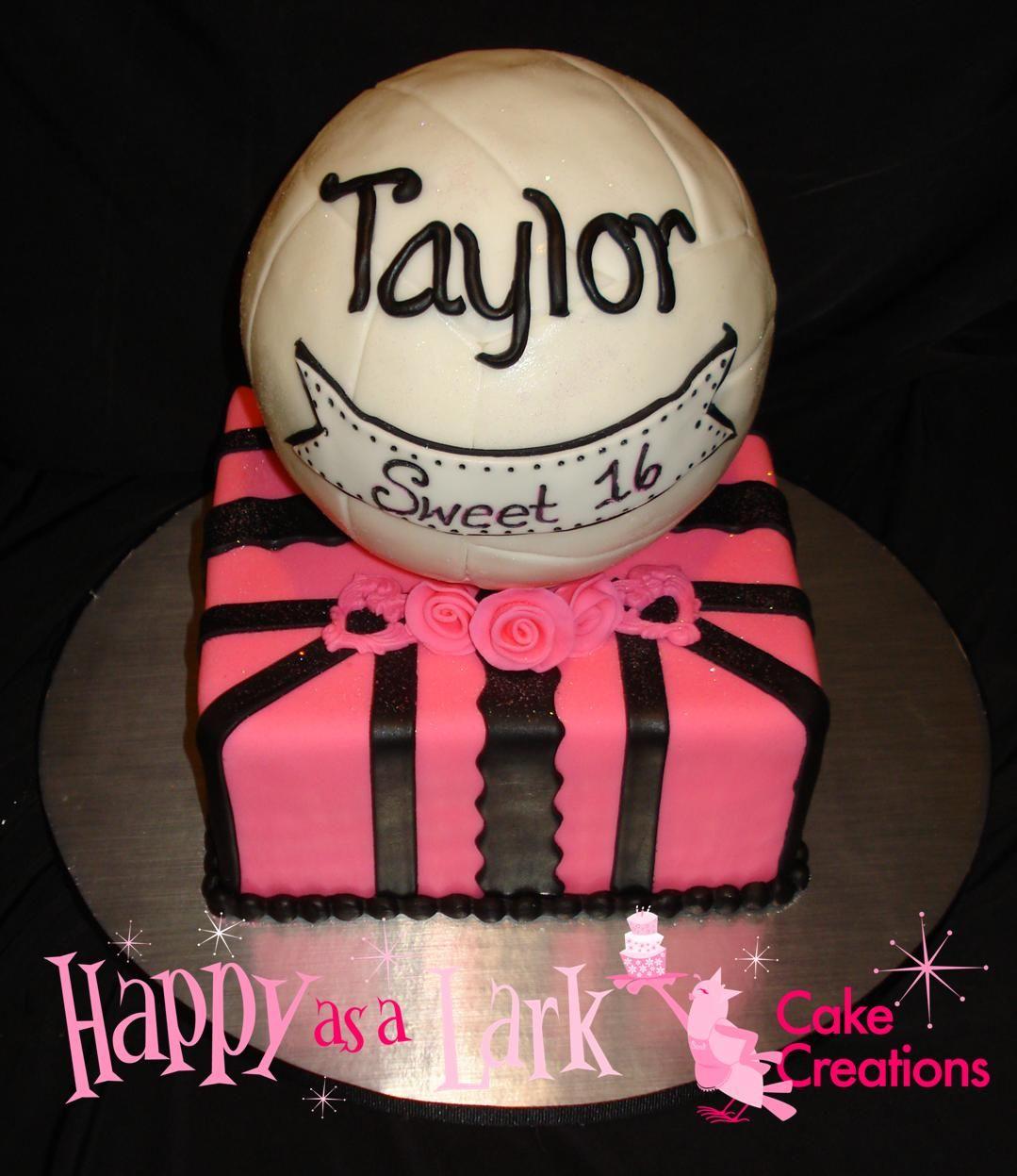 Awe Inspiring Volleyball Cake For 16Th Birthday Volleyball Cakes Birthday Personalised Birthday Cards Arneslily Jamesorg