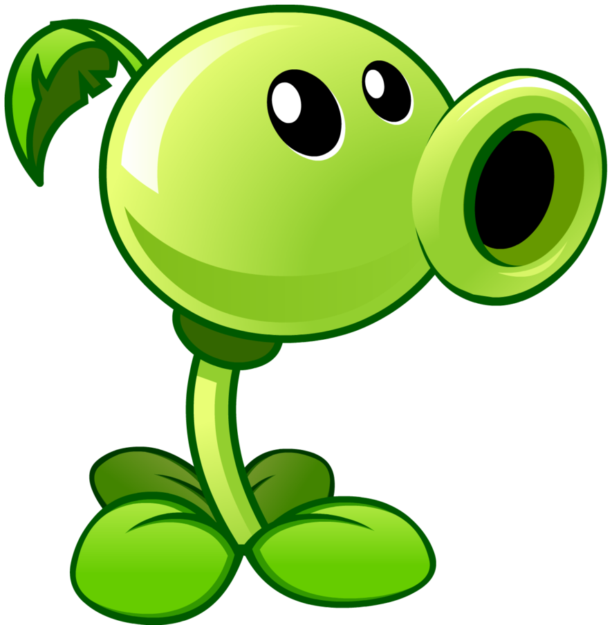 plants vs zombies 2 peashooter by illustation16 on deviantart rh pinterest ca