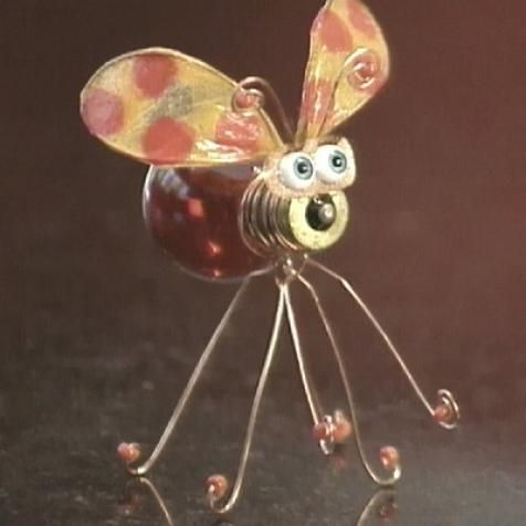 Create a whimsical bug sculpture with wire and an old light bulb with these simple step-by-step instructions from HGTV.com.