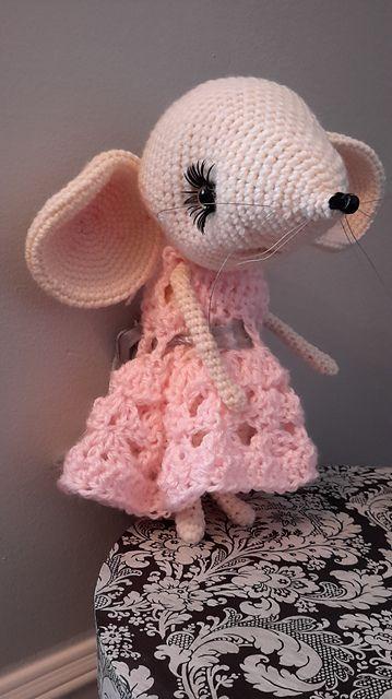 afrsss\' 097 Mouse Sofia Crochet+Knitting(dress) | Mäuse und Häkeln