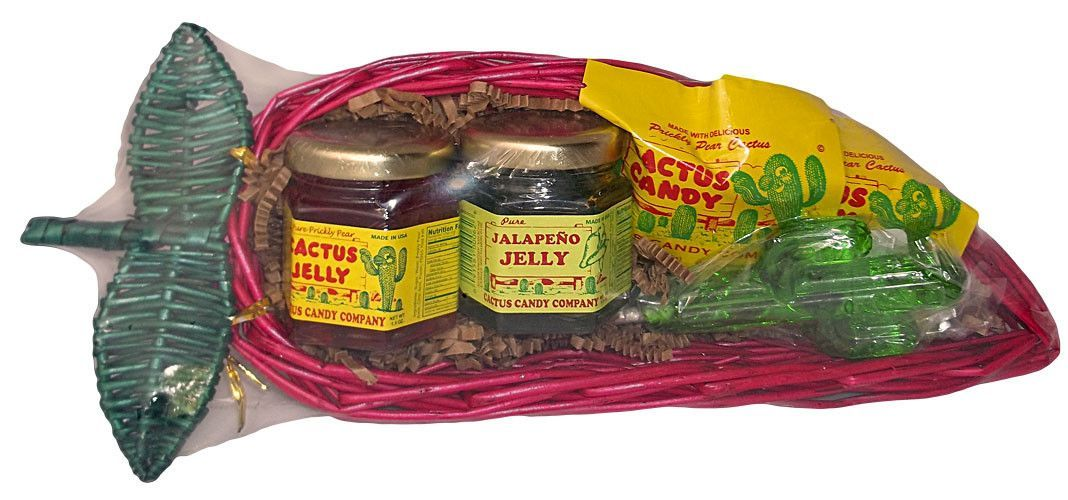 Cactus Candy and Jelly Chili Pepper Gift Basket
