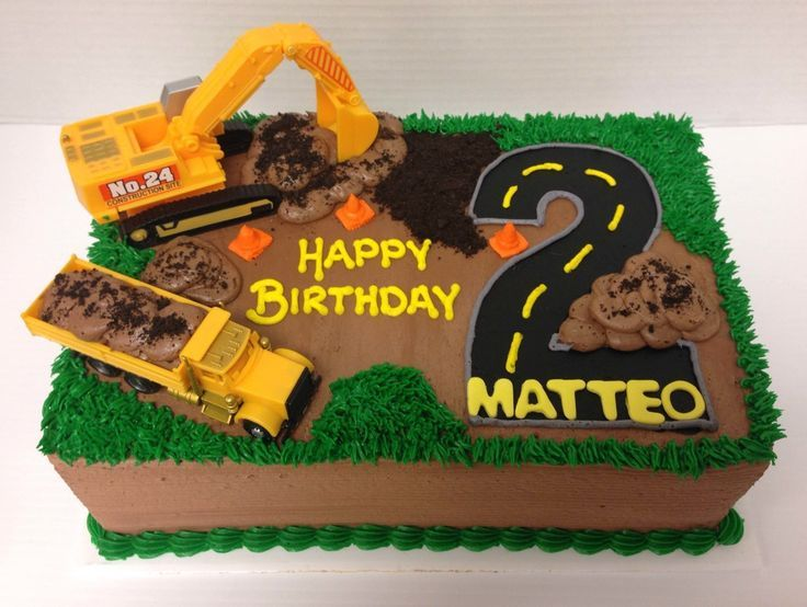 Construction Party Cakes Birthday Parties 2 Cake Digger