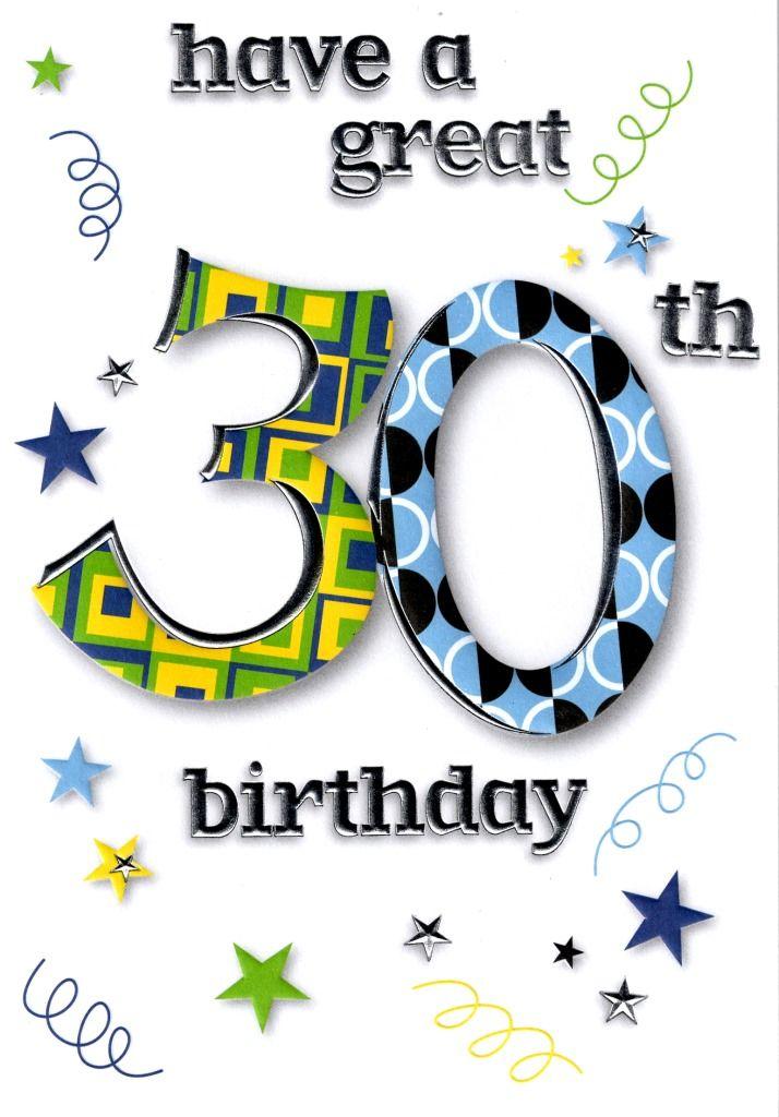 Pin van Anne Lathouwers op 30 jaar - Verjaardag ...30th Happy Birthday Wishes For Men