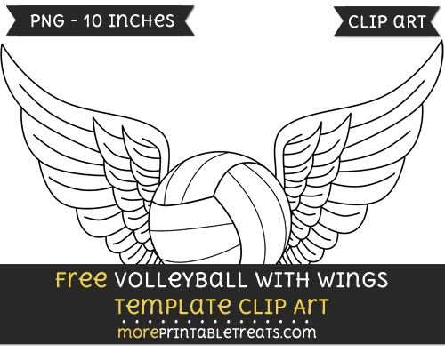 Free Volleyball With Wings Template - Clipart | Clipart Files ...
