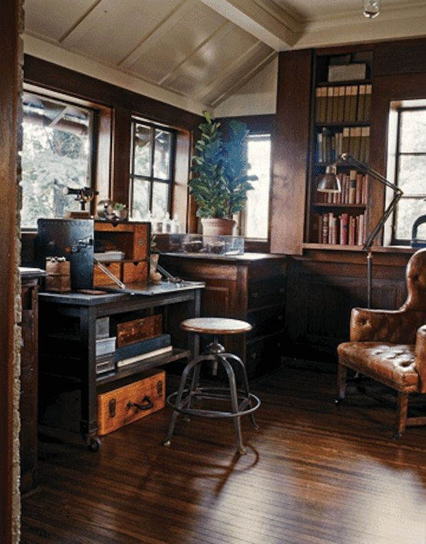 Recession Style Watch Introducing Industrial Rustic Study corner