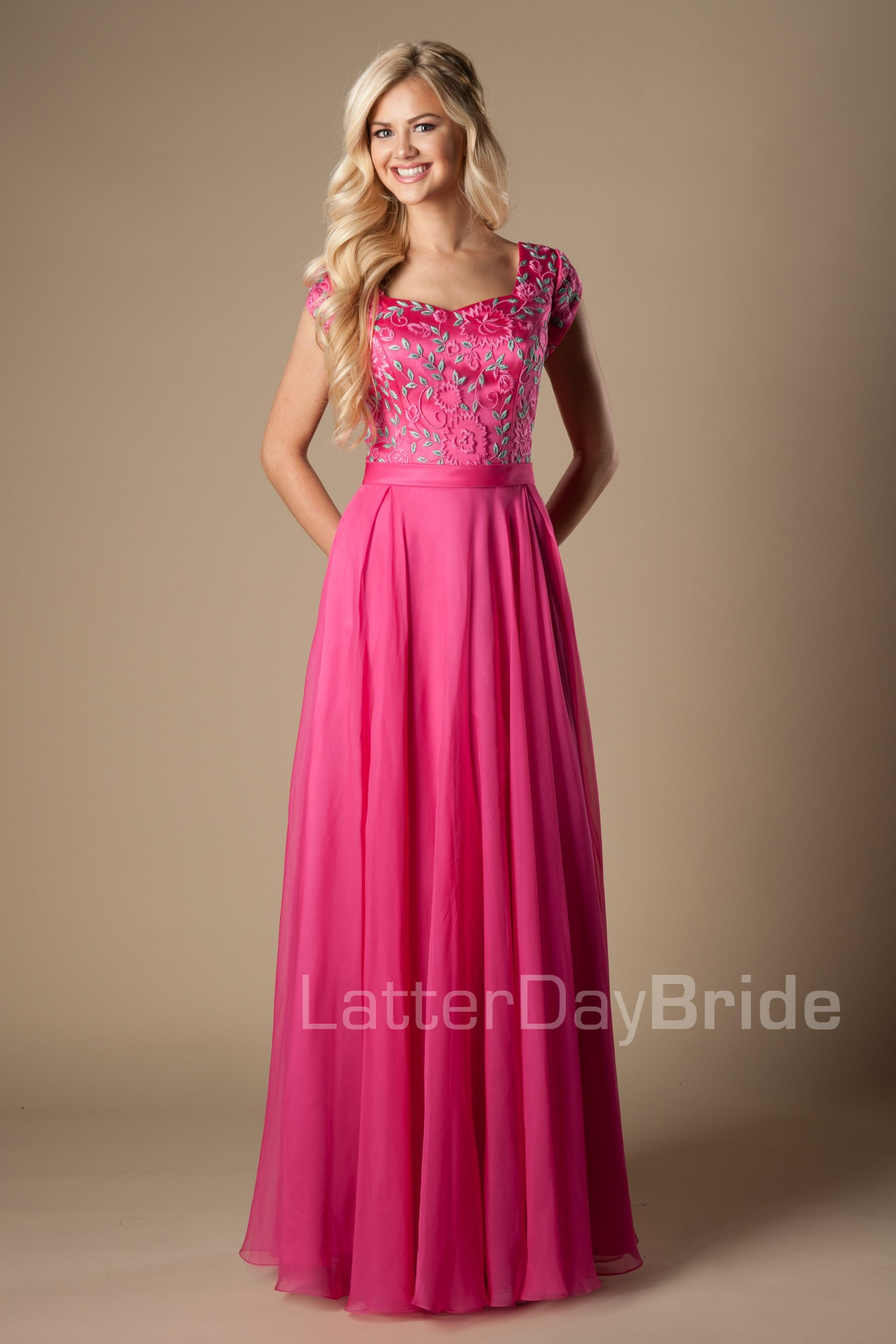Modest Prom Dresses : Josie | Prom Dresses<3 | Pinterest | Vestido ...