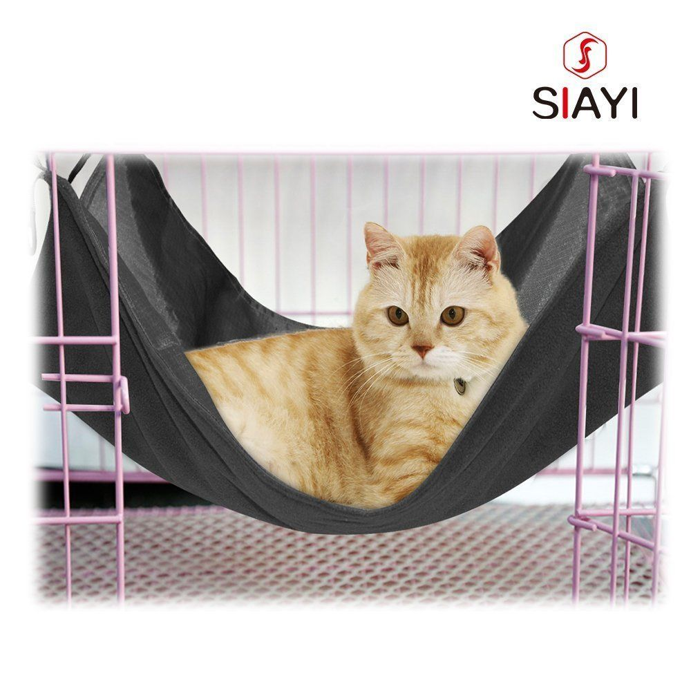 Siayi Reversible Cat Hammock Bed Waterproof Pet Hammock For Small Pets You Can Get Additional Details At The Image Link Pet Hammock Cat Hammock Kitten Beds