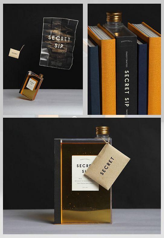 Novel Whiskey Bottles Whiskey bottle, Design packaging and - packaging slips