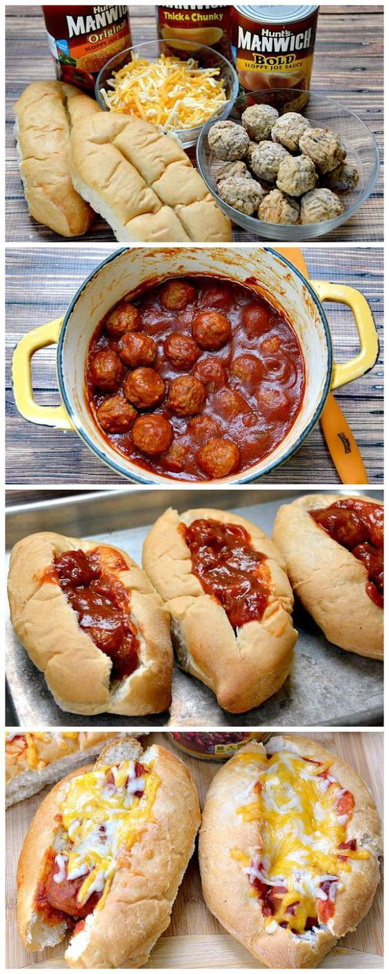 Easy Sloppy Joe Meatball Subs Recipe Pinterest Recipes