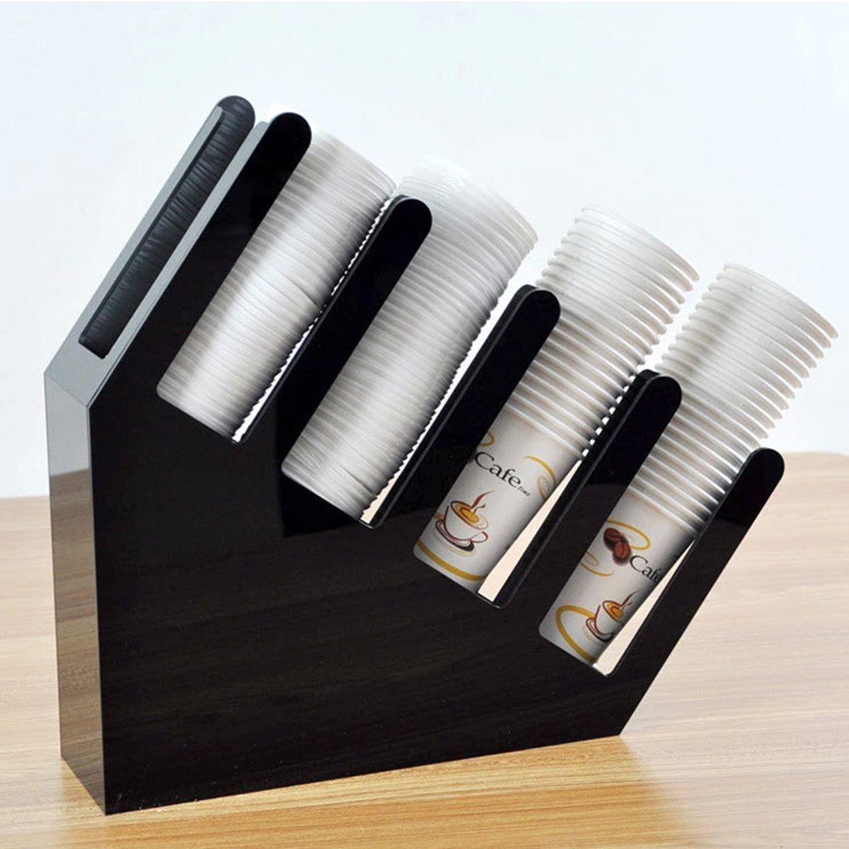 Paper cup holder shelf cocktail jewelry box acrylic bar storage box
