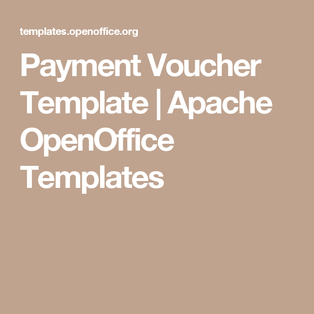 Payment Voucher Template  Apache Openoffice Templates  Tax Stuff