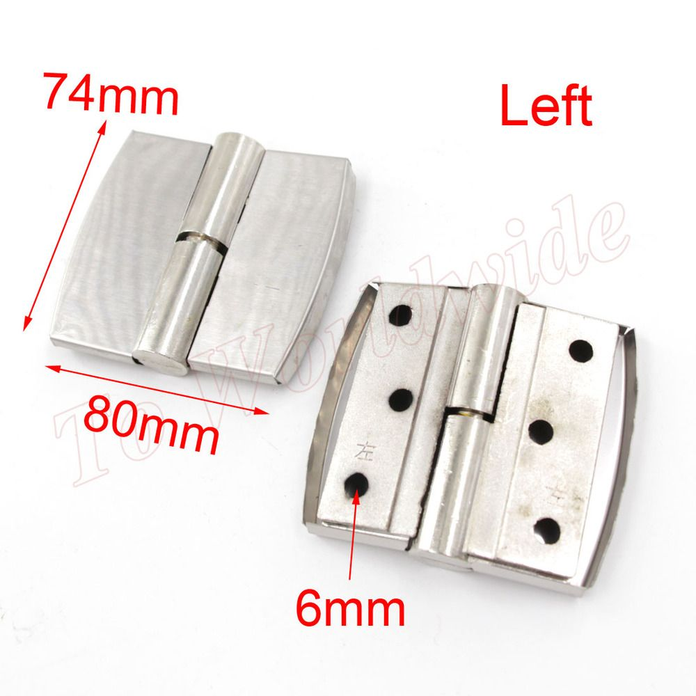 $15.79 (Buy here: http://appdeal.ru/5ddt ) Left Metal Butt Hinge 80 x74mm Silver Tone Furniture Hinge for just $15.79