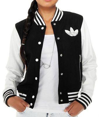 aab79123b99 originals adidas baseball jacket wool coat Leather varsity College Letterman  TOP | Coats, Jackets & Waistcoats | Women's Clothing