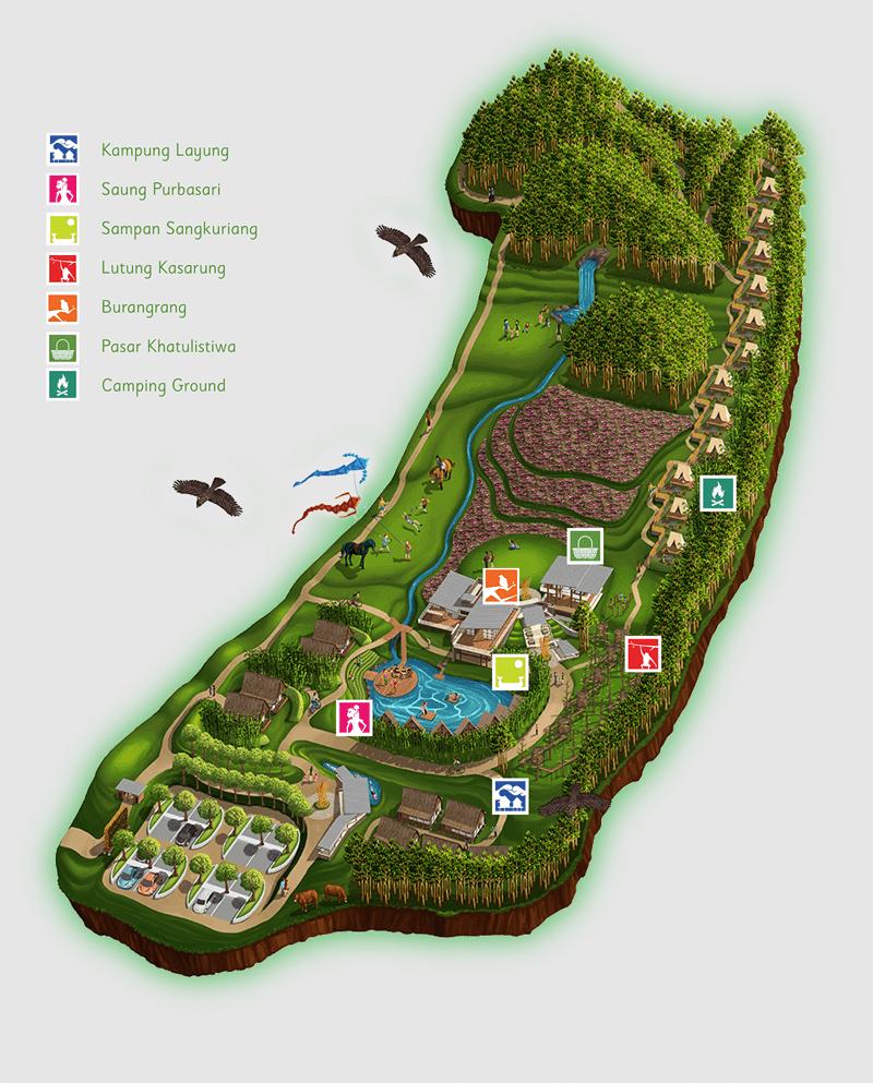 Wisata Dusun Bambu Family Leisure Park, Lembang, Cisarua ...