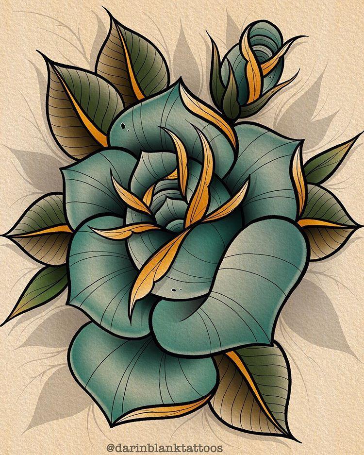 Roses All Day Tattoo Tattoos Tattooing Tattooed Tattooart Tattooartist Ta Traditional Rose Tattoos Traditional Tattoo Flowers Blue Rose Tattoos
