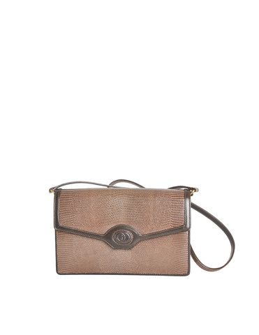 7e6548c23a3 Gucci Vintage Brown Lizard Skin Clutch Bag - from Amarcord Vintage Fashion
