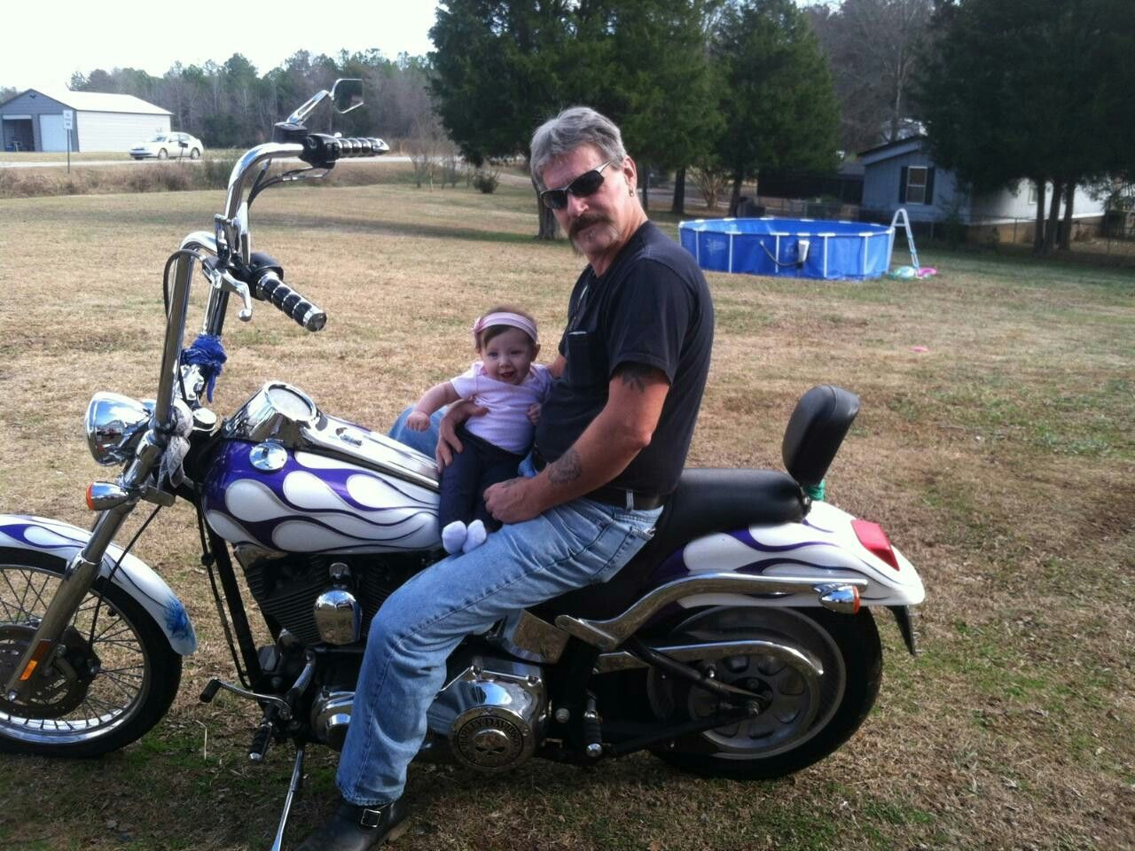 Richard Williams and granddaughter Mabry
