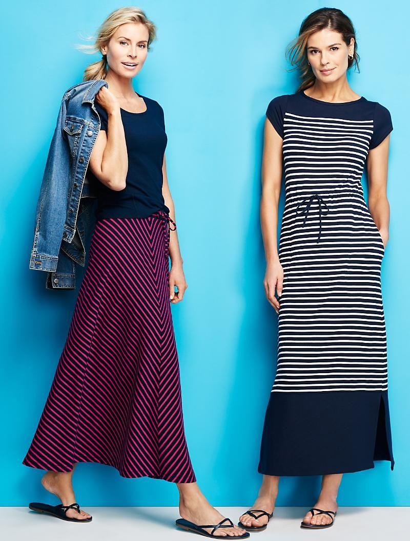 Stripe Maxi Dress Striped Maxi Dresses Maxi Dress Talbots Fashion [ 1057 x 800 Pixel ]