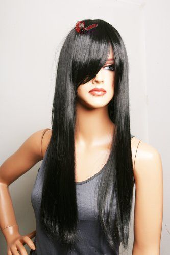 Epic Cosplay Nyx Black Long Straight Wig 28 Inches 11b1