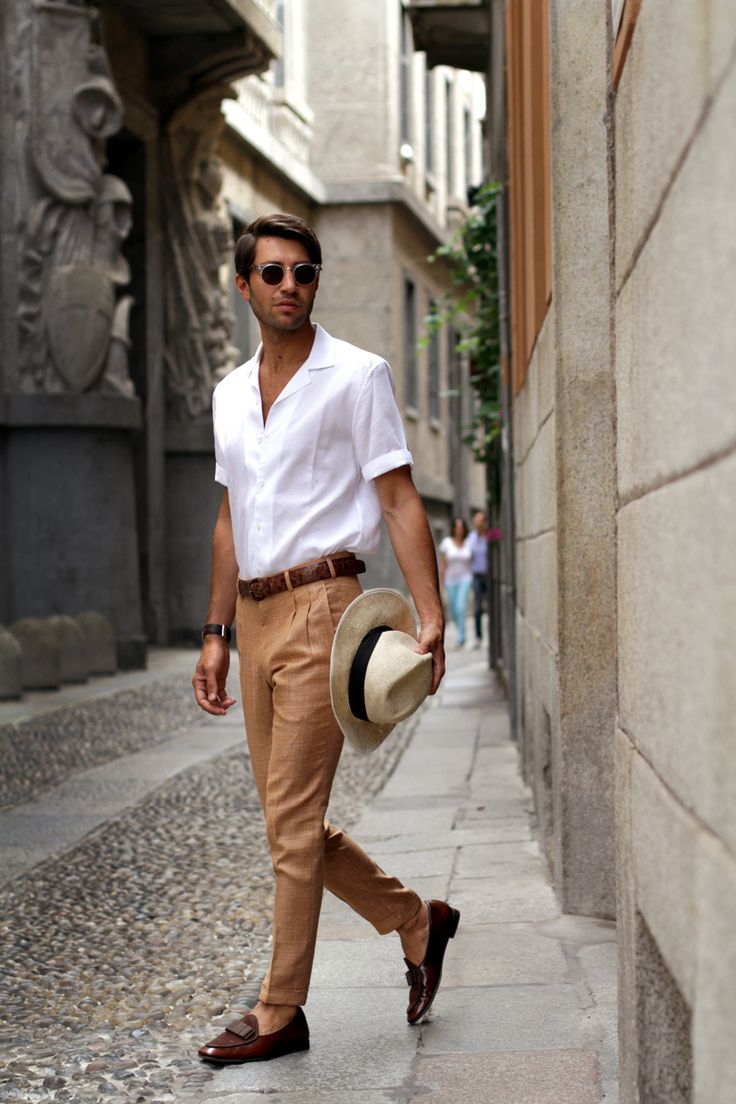 stylish-and-light-men-summer-work-outfits-16  Men&39s Style ...