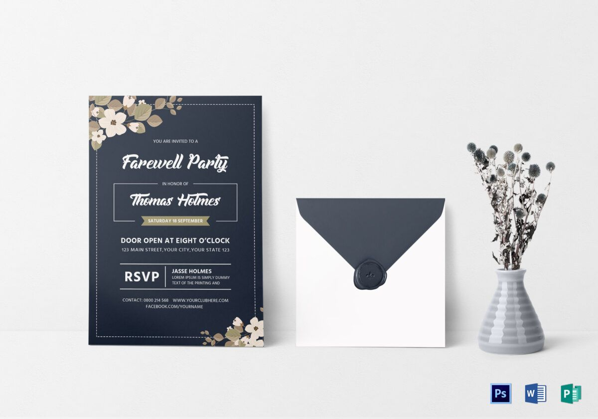 Farewell Party Invitation Card Template With Farewell Card Template Word Farewell Party Invitations Farewell Invitation Card Invitation Card Design