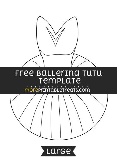 free ballerina tutu template large shapes and templates
