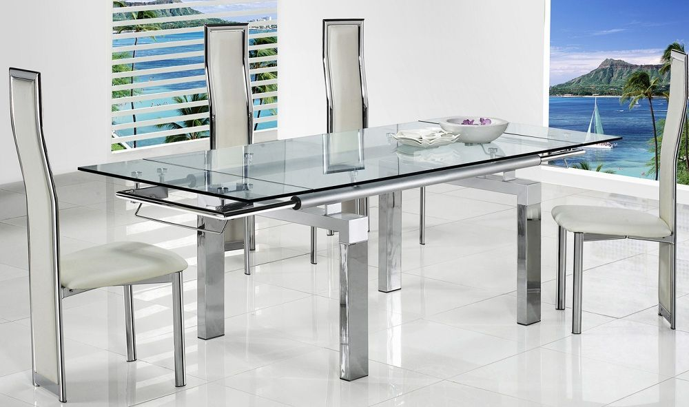 Picture Of Extraordinary Glass Dining Tables For Finest Service Glass Dining Table Dining Table Glass Dining Room Table