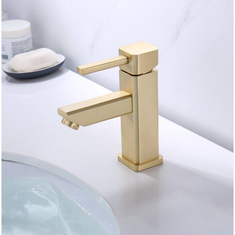 Single Hole Bathroom Faucet With Drain Assembly In 2020 Single Hole Bathroom Faucet Bathroom Faucets Gold Bathroom Faucet