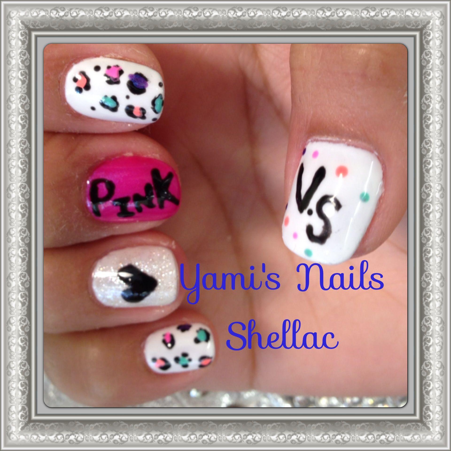 Nail design Victoria secret gel nailpolish   Nail shellac   Pinterest
