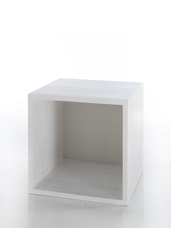 Wooden Cube Shelf (white)