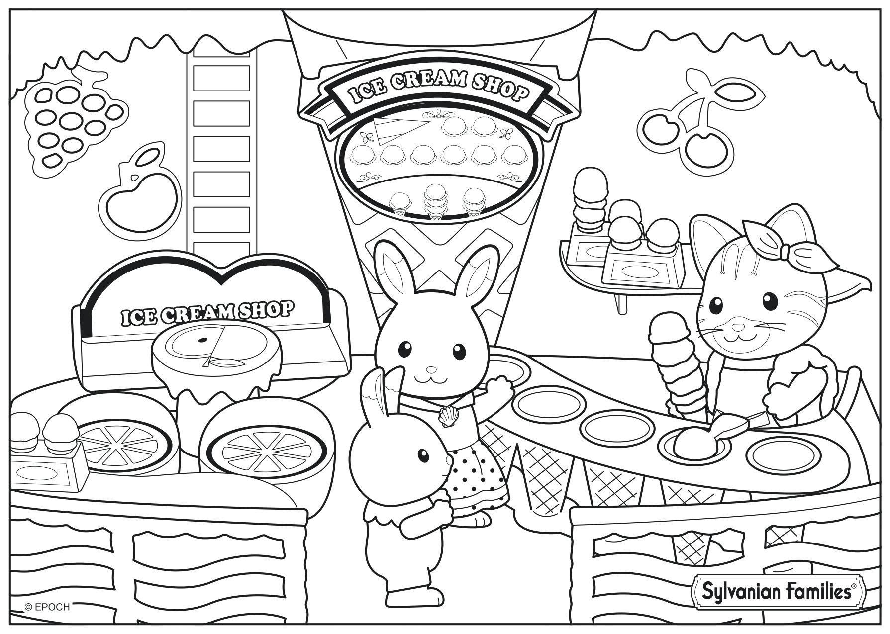20 Beautiful Calico Critters Coloring Pages Family Coloring