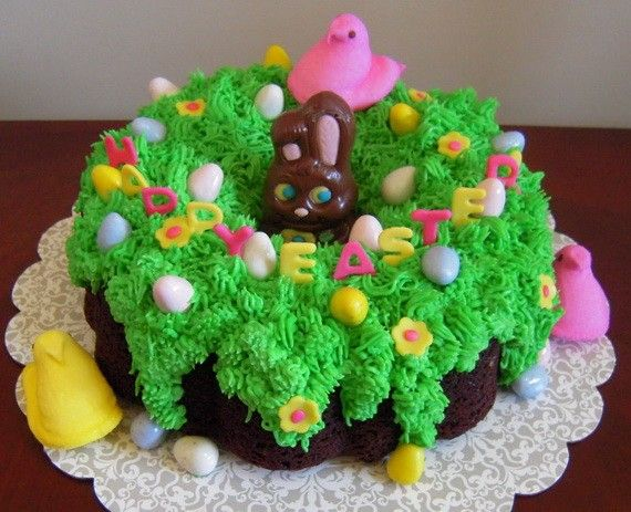 Easter Bundt Cake Decorations Ideas Cakes Easy Easter Egg Cake