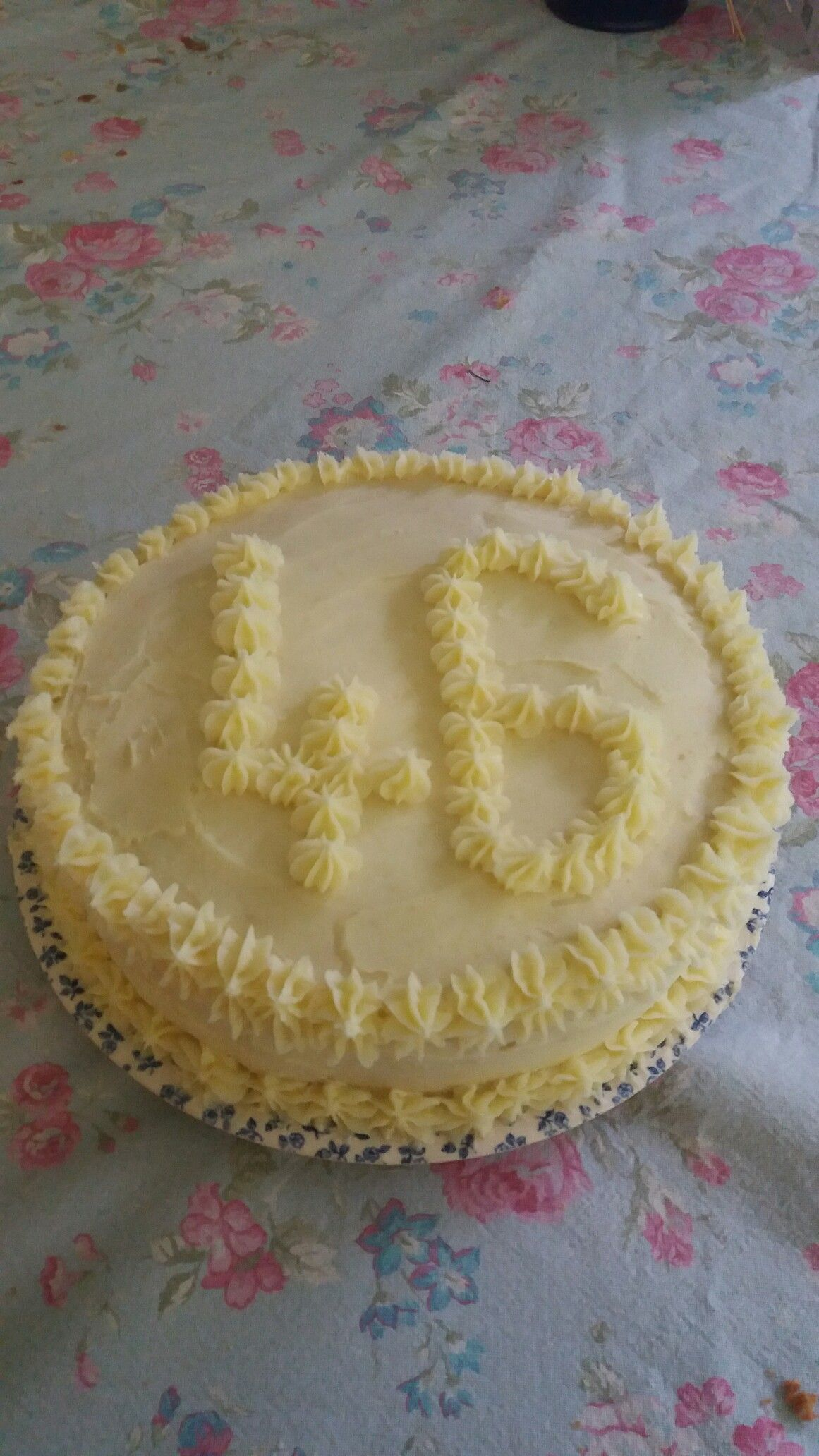 My mumus birthday cake when you cut into lots of s marties fall