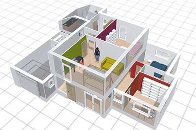 Plan 3d plan maison 3d - Decorer sa maison virtuellement gratuit ...