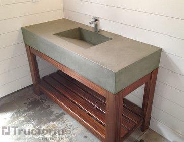 Concrete Bathroom Sink Diy Traditional
