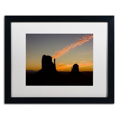 """Trademark Art 'Cloud Shaft' by Michael Blanchette Framed Photographic Print Matte Color: White, Size: 16"""" H x 20"""" W x 0.5"""" D"""
