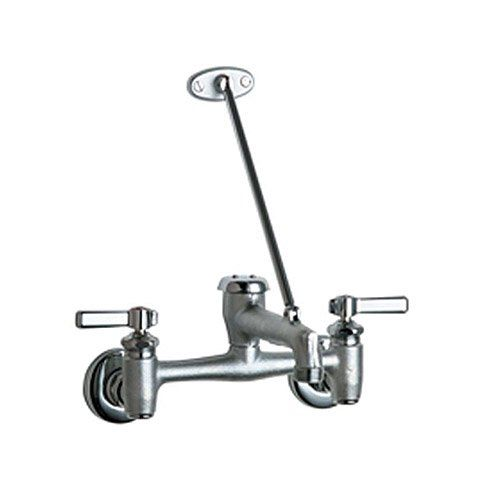 Chicago Faucets 897 Rcf Wall Mount Adjustable Center Service Sink