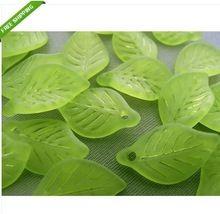 Doprava zadarmo!  Veľkoobchod Matné Akrylové Lucite Listové korálky 500ks / lot Zelené listy matné akrylové prívesok 11 * 18 mm (Čína (pevninská časť))