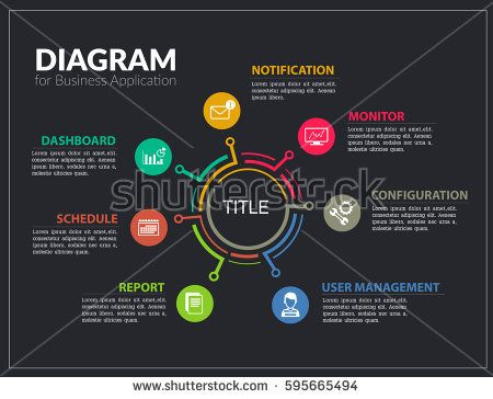 Info graphic design template   Business Diagram for Present     Info graphic design template   Business Diagram for Present