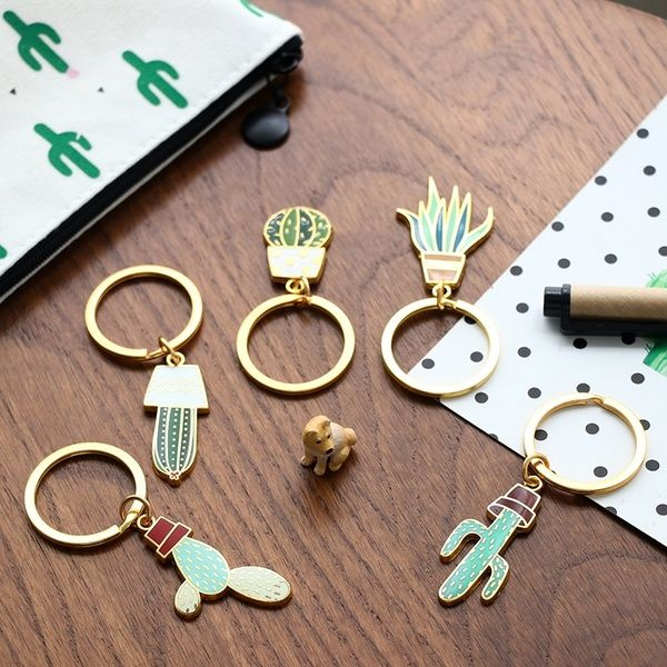 Stationery lovely cactus plant key ring creative giant Meng key buckle cartoon Pendant   Wish
