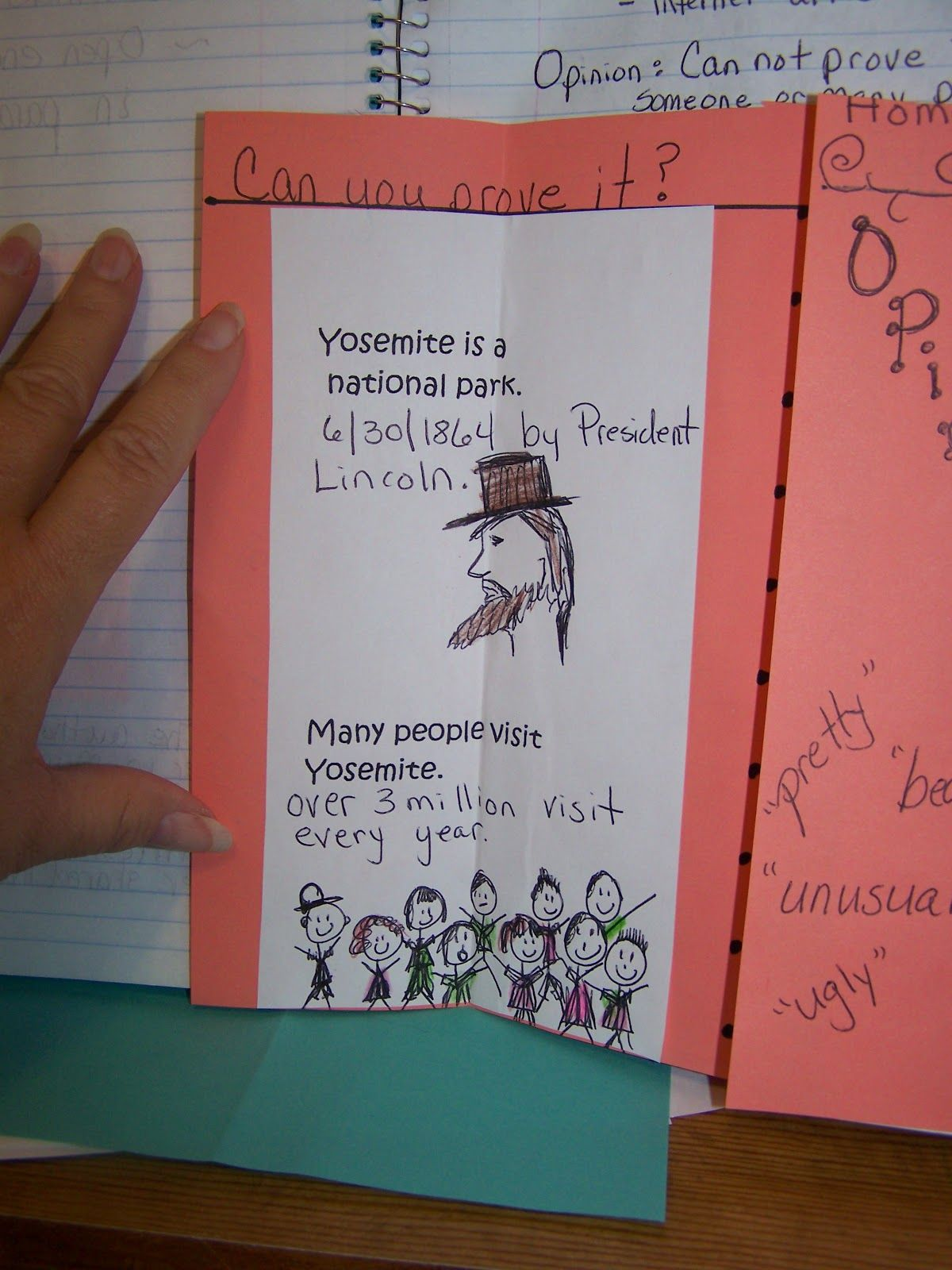 Fact And Opinion Foldable For Letters Home 4th Grade