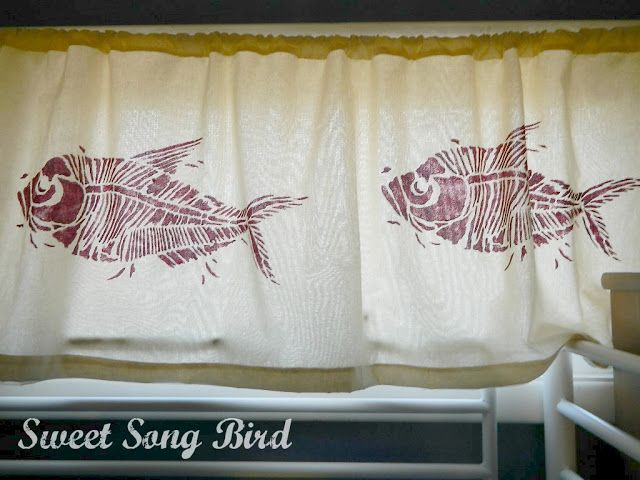 Sweet Song Bird: DIY Stenciled Valance, Bulletin Board and Cutting Edge Stencils Giveaway!