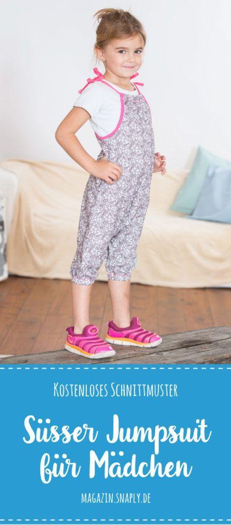 Kostenloses Schnittmuster: Süßer Jumpsuit für Mädchen | nähen ...